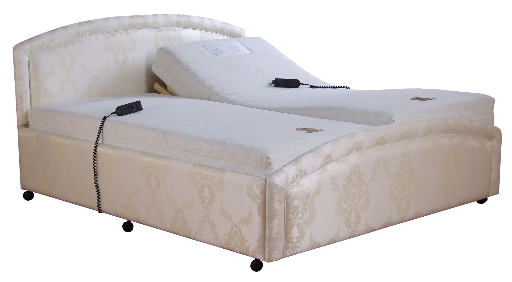 Curve dual single-surround adjustable bed