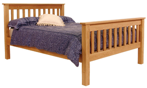 Slat wooden framed profiling bed