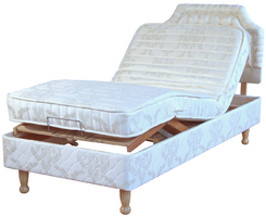 Half-Divan bed raised