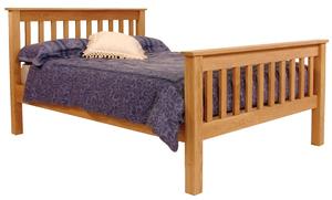 Slat wooden framed profiling bed
