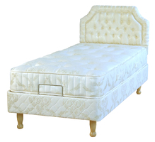 Half-Divan adjustable profiling bed lowered