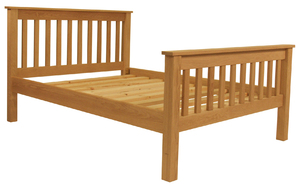 Oak slatted adjustable profiling bed